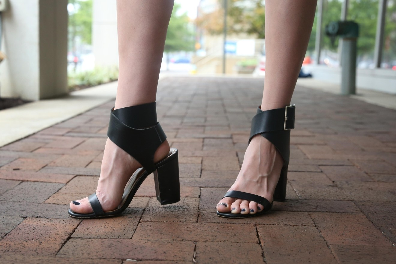 """I don't have a ton of calf definition,"" E laughed, ""so I wear shoes with ankle straps.""(Amanda Andrade-Rhoades/DC Refined)"