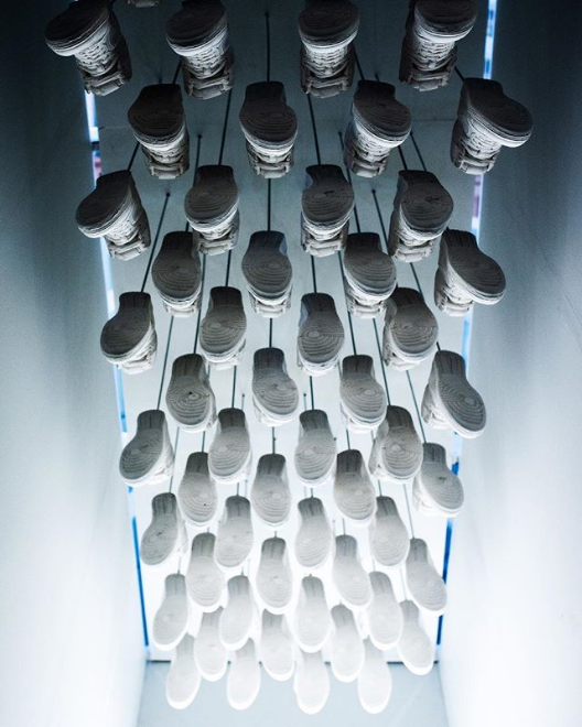Endless shoes at the Building Museum. (Image: Via IG user @bluflash)