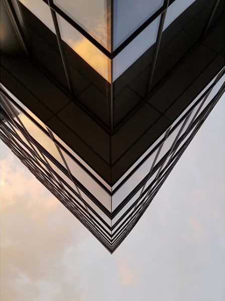 Is this a building or a reflection? (Image: Via IG user @josh_barrage)